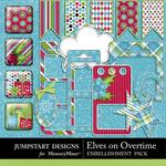 Elves On Overtime Spare Parts-$2.49 (Jumpstart Designs)