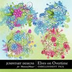Elves On Overtime Splatters-$2.99 (Jumpstart Designs)