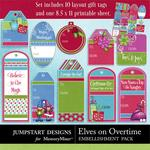 Elves On Overtime Tags and Printables-$2.49 (Jumpstart Designs)