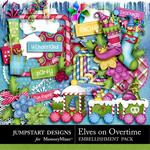 Elves On Overtime Add On Embellishment Pack-$3.49 (Jumpstart Designs)