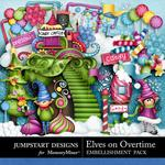 Elves On Overtime Embellishment Pack-$3.49 (Jumpstart Designs)