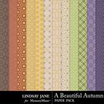 A Beautiful Autumn Pattern Paper Pack-$1.99 (Lindsay Jane)