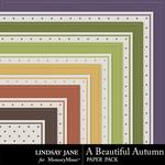 A Beautiful Autumn Embossed Paper Pack-$1.99 (Lindsay Jane)
