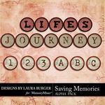 Saving Memories Alpha Pack-$2.49 (Laura Burger)