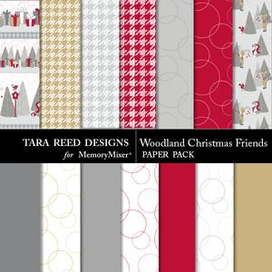 Woodlandchristmasfriends paperpack preview medium