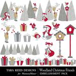 Woodland Christmas Embellishment Pack-$2.99 (Tara Reed Designs)