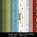 Joy of Christmas Paper Pack-$3.49 (Lindsay Jane)