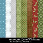 Joy of Christmas Extra Paper Pack-$1.99 (Lindsay Jane)