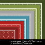 Joy of Christmas Embossed Paper Pack-$1.99 (Lindsay Jane)