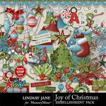 Joy of Christmas Embellishment Pack-$3.49 (Lindsay Jane)