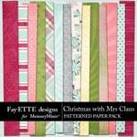 Christmas with Mrs Claus Patterned Paper-$3.99 (Fayette Designs)