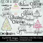 Christmas with Mrs Claus WordArt-$2.49 (Fayette Designs)