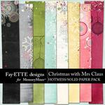 Christmas with Mrs Claus Hotmess Solid Paper-$3.99 (Fayette Designs)