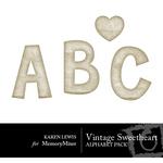 Vintage Sweetheart Alphabet Pack-$0.99 (Karen Lewis)