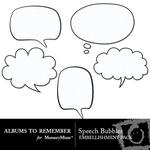 Comic Speech Bubbles Embellishment Pack-$2.99 (Albums to Remember)
