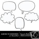 Comic Speech Bubbles Embellishment Pack-$2.99 (Albums to Remember)