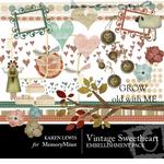 Vintage Sweetheart Embellishment Pack-$3.00 (Karen Lewis)