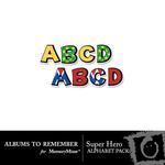 Super Hero Alpha Pack-$2.99 (Albums to Remember)