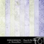 Peace In My Soul Paper Pack-$2.99 (Indigo Designs)