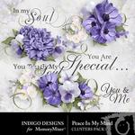 Peace In My Soul Clusters-$1.99 (Indigo Designs)