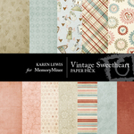 Vintage Sweetheart Paper Pack-$4.00 (Karen Lewis)