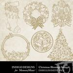 Christmas Blessings Stamp Pack-$1.99 (Indigo Designs)