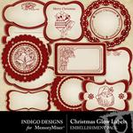 Christmas Glow Label Pack-$1.99 (Indigo Designs)