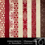 Christmas Glow Patterned Paper Pack-$2.99 (Indigo Designs)