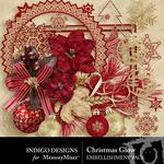 Christmas Glow Embellishment Pack-$2.99 (Indigo Designs)