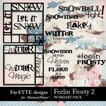 Feelin Frosty 2 WordArt Pack-$3.99 (Fayette Designs)