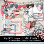 Feelin Frosty 2 Add On Embellishment Pack-$2.99 (Fayette Designs)