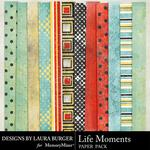 Life Moments Paper Pack-$1.40 (Laura Burger)