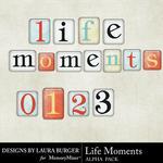 Life Moments Alpha Pack-$0.99 (Laura Burger)