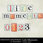 Life Moments Alpha Pack-$0.99 (Laura Burger)