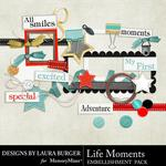 Life Moments Embellishment Pack-$3.49 (Laura Burger)