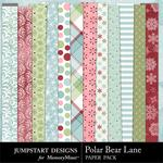 Polar Bear Lane Pattern Paper Pack-$3.49 (Jumpstart Designs)
