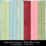 Polar Bear Lane Plain Paper Pack-$3.49 (Jumpstart Designs)