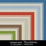 Touchdown Embossed Paper Pack-$1.99 (Lindsay Jane)