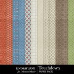 Touchdown Pattern Paper Pack-$1.99 (Lindsay Jane)