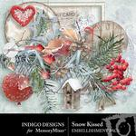Snow Kissed Embellishment Pack-$2.99 (Indigo Designs)