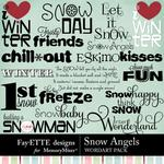 Snow Angels WordArt Pack-$2.49 (Fayette Designs)