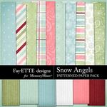 Snow Angels Patterned Paper Pack-$3.99 (Fayette Designs)