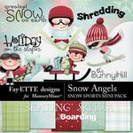 Snow Angels Snow Sports Mini Pack-$3.99 (Fayette Designs)