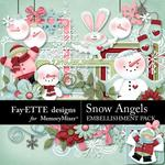 Snow Angels Embellishment Pack-$3.49 (Fayette Designs)