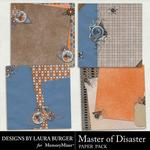 Master of Disaster Stacked Paper Pack-$1.40 (Laura Burger)