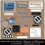 Master of Disaster Labels and Wordart-$1.00 (Laura Burger)