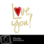 I Love You Freebie-$0.00 (Lasting Impressions)