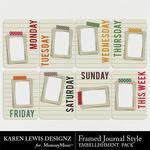 Framed journal style pack small