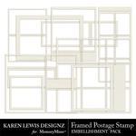 Framed Postage Stamps-$1.99 (Karen Lewis)