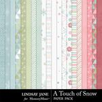 A Touch of Snow Paper Pack-$3.49 (Lindsay Jane)